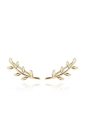 Ohrringe, mit Kletterpflanze, aus Sterlingsilber, mit Goldlegierung