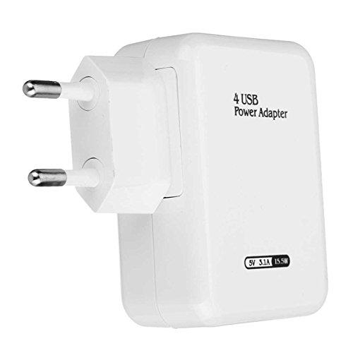 Home Travel Ac Adapter (Tutoy USB Adapter Universal Travel Wand Ladegerät Adapter 4 Port USB Hub Ac Netzteil Us/Eu Steckereu-Stecker)