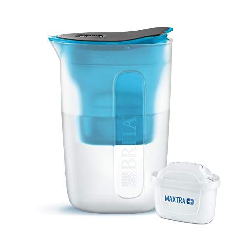 BRITA Wasserfilter Fun blau, inkl. 1 MAXTRA+ Filterkartusche - kleiner Wasserfilter für größten Genuss dank der Reduzierung von Kalk und Chlor im Leitungswasser