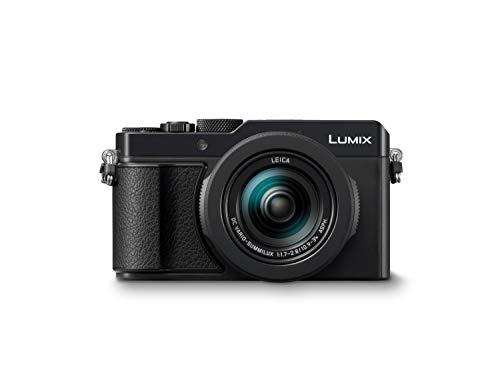 Panasonic LUMIX DC-LX100II Appareil photo numérique haut de gamme (21,77 MP, 24-75 mm Leica DC Vario Summilux Lens, F1.7-2.8, 4K, noir)- Version étrangère