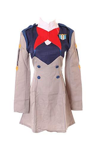Kawaii-Story MN-66 Darling in The Franxx Grau Ichigo Miku Kokoro Militär Kleid Anzug Uniform Kostüm Manga Anime Cosplay (XL)