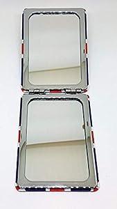 diseño de tiendas online: Union Jack Rectangular espejo de bolsillo–Compacto/plegable/London Souvenir/po...