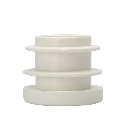 uxcell Kunststoff-Rundrohr, geriffelt, für Möbelgleiter/Möbelfüße, Weiß, B07GKJMXVV, 1Stück, 22mm -