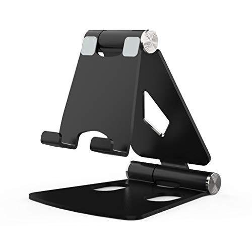 Wanfor Multi-Winkel Aluminium Einstellbare Desktop Phone Tablet Ständer Halter (schwarz)