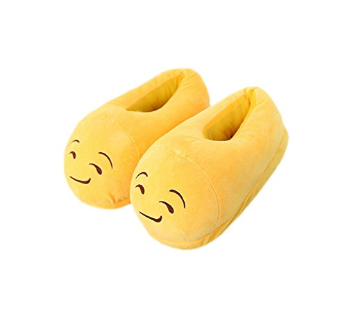 Magicmode Unisex Adult Cartoon Emoji Winter Warm Weichem Plüsch Home Hausschuhe Kostüm Schuhe Käse (Käse Kostüme)