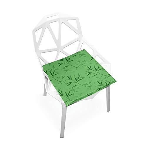 Enhusk Bambus Grün Blatt Pflanze Benutzerdefinierte Weiche rutschfeste Platz Memory Foam Stuhlkissen Kissen Sitz Für Home Küche Esszimmer Büro Schreibtisch Möbel Innen 16x16 Zoll - Blatt Esszimmer-möbel