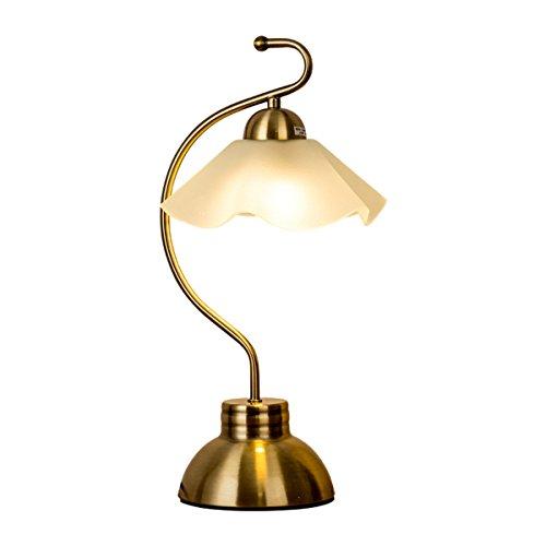 Lampe de bureau, lampe de chevet minimaliste avec abat-jour en verre pour chambre à coucher, salon, dortoir Rétro lampe de table (Size : A)