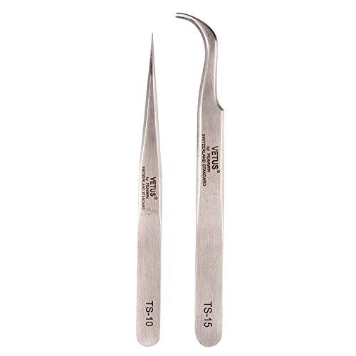 BEAUTY7 Sicuro Antistatico Pinzette Manutenzione Riparazione Pinze Pinzette Tool Kits per Ciglia Ext