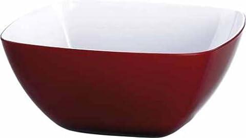 Emsa 504630 Eckige Schale für Desserts, Kunststoff, 4.6 Liter, 26.5 x 26.5 x 12 cm, Rot, Vienna