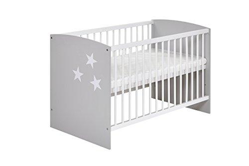 Schardt 03 493 46 02 Kinderbett - Classic grey, 60 x 120 cm, weiß