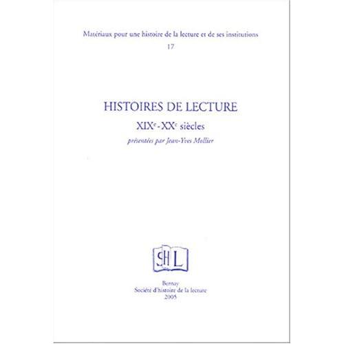 Histoires de lecture XIXe-XXe siècle