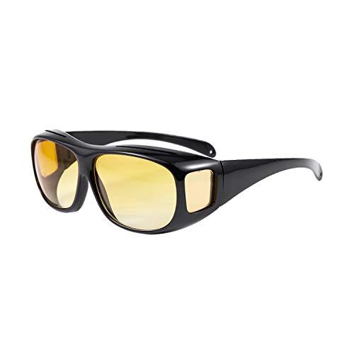 JVSISM Auto KFZ Brille Sonnenbrille Nachtfahrbrille Nachtsichtbrille Kontrastbrille ideal gegen blendendes Licht bei Nachtfahrten