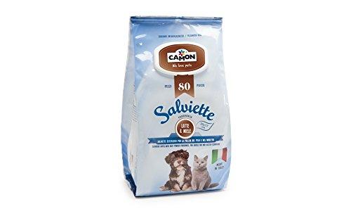 salviette latte e miele detergenti per cani e gatti 80 pezzi