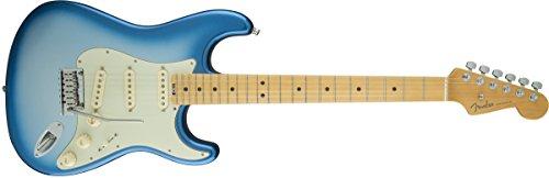 Fender 0114002700E-Gitarre, American Elite Stratocaster, mit Griffbrett aus Ahorn - Aged White Blonde stratocaster Sky Burst Metallic