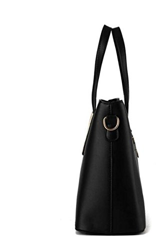 Frauen Leder Schultertasche Elegante Mode Schultertasche Messenger Bag Handtasche Damen Große Kapazität Handtasche Black