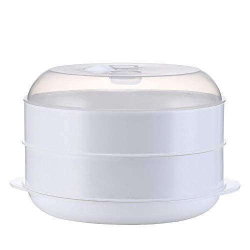 beautygoods Steam Cooker Steaming Insertar para Ollas De Cocción Steaming Tray, Double Layer Rice Cooker Steaming Basket Olla De Presión Anti-escaldado Multifunción Fruit Cleaning Basket