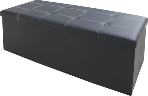 large-ottoman-faux-leather-stool-folding-seat-chest-foldable-storage-box-foot-double-black