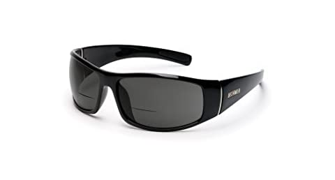 Suncloud Polarized Optics Atlas Sunglasses (Black with Gray Polarized Reader +2.00 Lens) by Suncloud