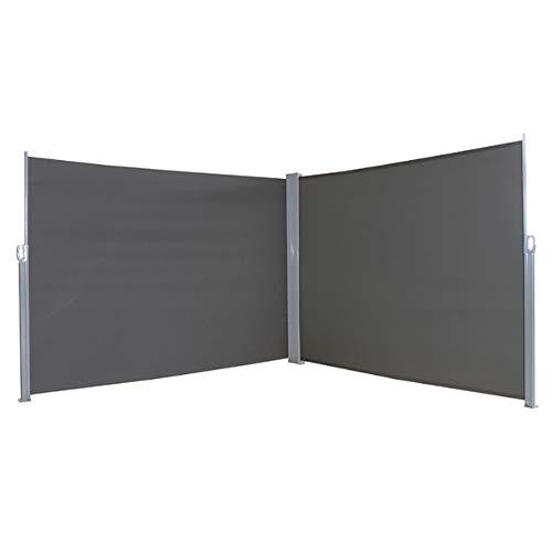 HENGMEI 200x600cm Sichtschutzwand Sichtschutz Sonnenschutz Seitenrollo Markise für Balkon Terrasse Garden (200 cm, Anthrazit)