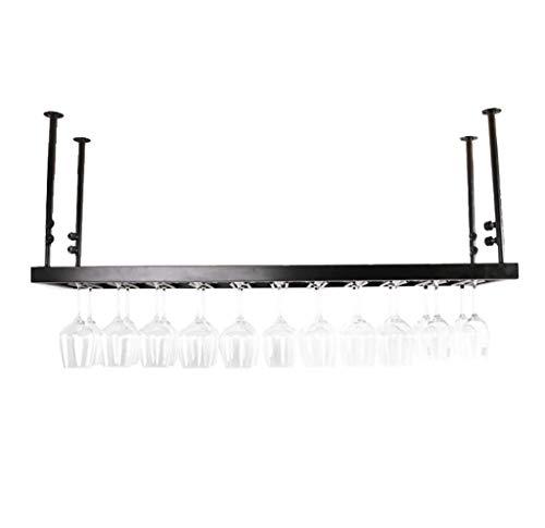 Jia He Weinregalen Weinregale - Europäische Bar Hanging Rack, schwarz Schmiedeeisen höhenverstellbar Bar Counter Weinkühler, kann mehrere Weingläser hängen [2 Größen verfügbar] (größe : 60x30cm)