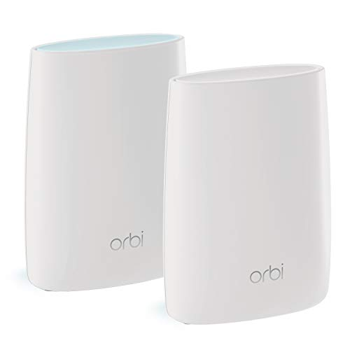 NETGEAR Orbi High Speed Mesh WLAN System (3.000 MBit/s Tri-Band Mesh Router + Satellit Repeater, 350 m² Abdeckung, AC3000, RBK50-100PES) - Netgear Wireless Powerline