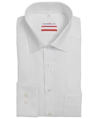 MARVELiS-Hemd MODERN-FIT (schmaler Schnitt) 4700 uni Extra langer Arm: Farbe: 00-weiss | Kragenweite: 43