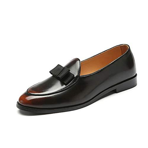 Kleiderschuhe Männer Wingtip Formal Pointed Toe Casual Shoes (Rosa Wingtip Schuhe)
