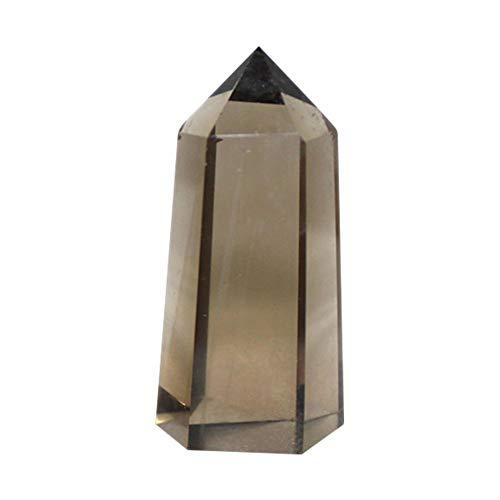 Ritapreaty-Anhänger-Halskette, natürliche Rohe Tee-Kristall-einseitige sechseckige Prismen-ursprüngliche Steinpolierverzierungen -