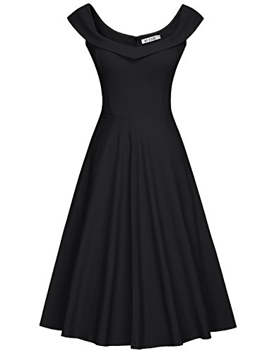 new product 1c228 53fcf MUXXN Vestito anni '50 Donna Elegante Cerimonia Cocktail ...