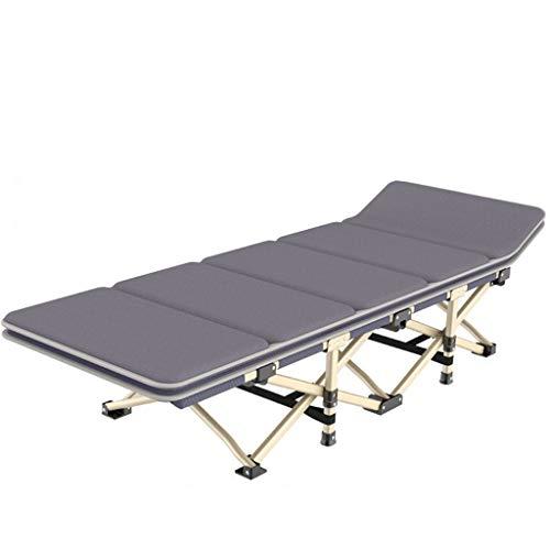 AA-SS-Folding chair Klappsessel Hochleistungs-Lehnstühle, Keine Montage, Indoor Outdoor Camping Tragbarer Hocker Sitz Mit Polster, 200 kg (Farbe: Grau)