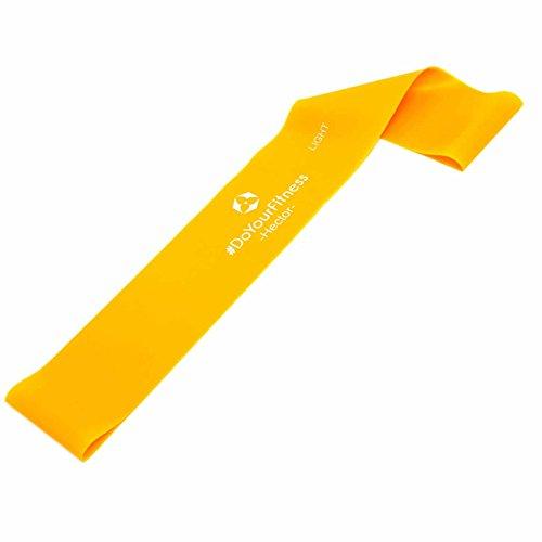 #DoYourFitness® Fitnessbändern/Sportbänder (ENGL. Mini-Loop) ca. 60cm Umfang in 4 Stärken - Einzeln oder direkt im 4er Set/ideal für Yoga, Pilates, Reha, Sport, Physio & Fitness orange/Hector