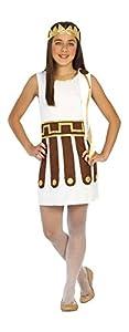 Atosa-20624 Disfraz Romana, Color Blanco, 7 a 9 años (20624)