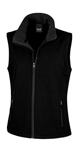 Result: Bedruckbarer Damen Soft Shell Bodywarmer R232F Black/Black