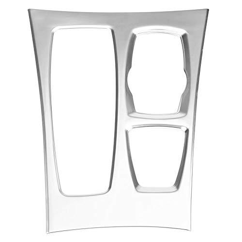 KIMISS Panneau de Vitesse, Chrome Galvanoplastie Couverture de la Console Centrale Cadre de Panneau de Boîte de Vitesse Autocollant pour X5 X6 E70 E71 08-14