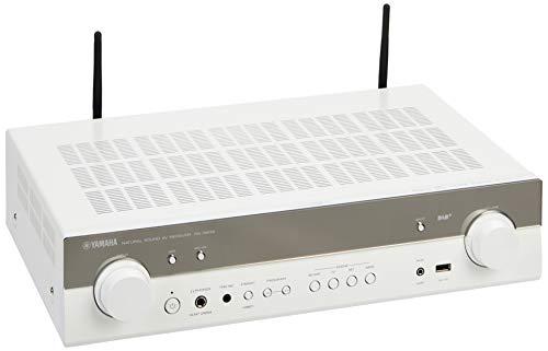 Yamaha AV-Receiver RX-S602 MC weiß – Slimline Netzwerk-Receiver mit kraftvollem 5.1 Surround-Sound - für packendes Home Entertainment – Music Cast und Alexa kompatibel