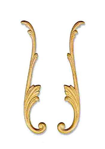 Eine Tür Curio (UNIQANTIQ HARDWARE SUPPLY G10-3074 Pflaume Birke Applikationen, 26,5-1,27 x 5,1 cm, antikes und modernes Möbeltüren, geschnitztes Ornamentdeko, inkl. gratis Bonus (Skelett-Schlüsselanhänger))