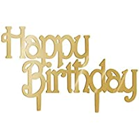 Fangfeen Decoración de acrílico del Partido Topper tortas de cumpleaños de la Torta de cumpleaños del
