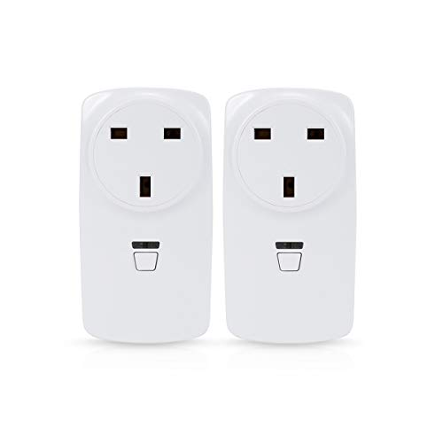 LOHAS WiFi Smart Plug, Wireless Timer Switch Power Socket Outlet, Works with Amazon Alexa Echo, Controlled by a Smartphone, No Hub Required, 2 Pack (UK Plug)