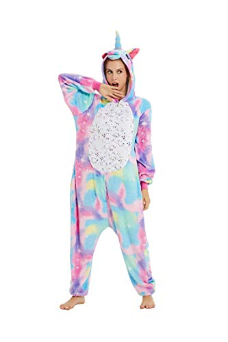 Adulto Unisex Unicornio Cartoon Animal Novedad Halloween Pijama Cosplay