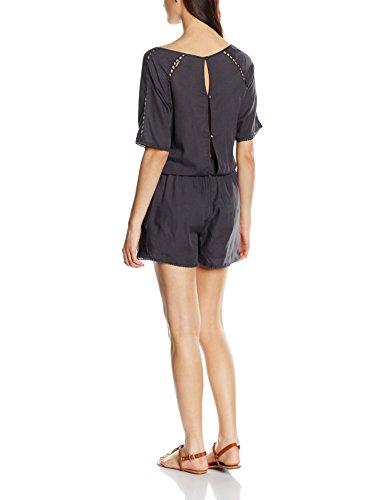 VILA CLOTHES Damen Vijenal S/S Playsuit Grau (Ebony)