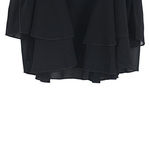 Sexy Gilet , Amlaiworld Femmes Irregular Summer Chiffon Shirt Camisole Gilet Noir