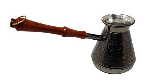 Madacha - Barattolo da caffè/caffettiera Turka, in Rame stagnato, 450 ml, Utilizzabile su Tutti i Piani Cottura, Tranne induzione, Prodotto in Russia