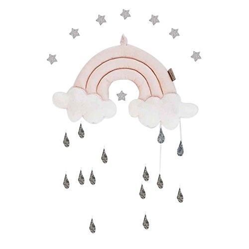 Arichtop Nouveau-né Nuage arc Raindrop mur Jouets Lit bébé Tente Pendentif Berceau suspendu Chambre ornement jouet infantile Props photo Arichtop