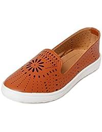 Meriggiare Women Tan Synthetic Casual Shoes