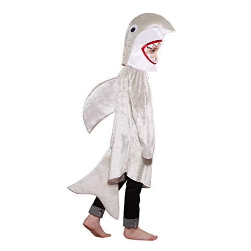 EraSpooky Unisex Tier Hai Kostüm Ausgefallene Faschingskostüme Halloween Party Karneval Fastnacht (Einfach Unter Dem Meer Kostüm)
