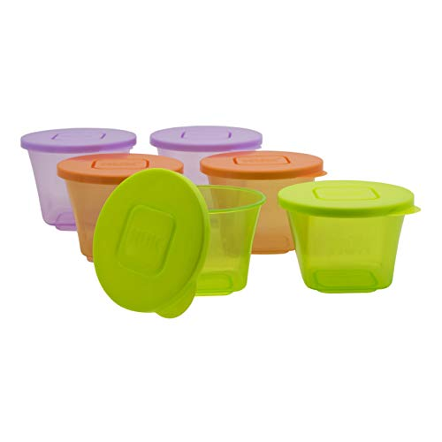NUK Baby Stackable Food Storage Containers | Microwave & Freezer Safe | 6 Count