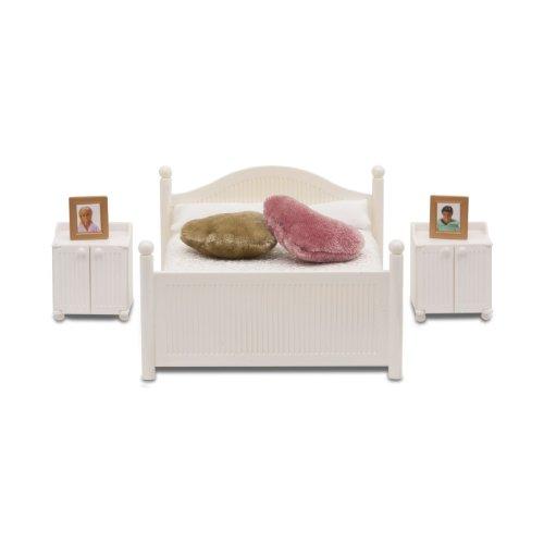 Lundby 60.2068.00 - Smaland: Camera da letto (Mobili per casa delle bambole), colore: Bianco