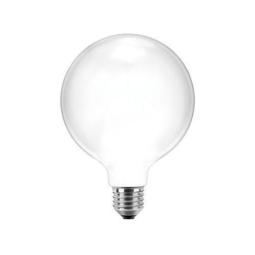 Blulaxa LED Filament Glühfaden Globelampe RETRO opal, 9,5cm, 300°, E27, warmweiß, Glas, 7W EEK: A++