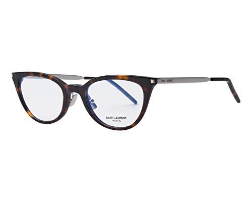 Yves Saint Laurent Brille (SL-264 005) Acetate Kunststoff - Metall dunkel havana - silber