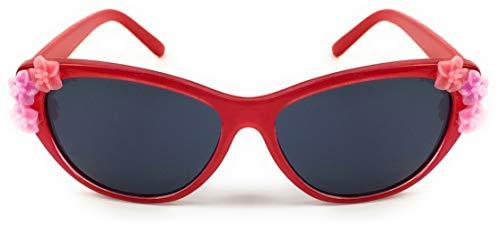Kinder-Sonnenbrille mit UV400 Sonnenschutz Spiel Sport Freizeit Sommer Strand - Sun Glasses Lunettes Soleil Gafas Sol - rot - Sun Diamond Girl